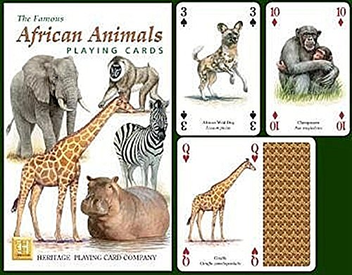 African Animals Playing Cards - Reptile Playing Cards