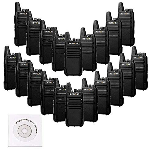 - Retevis RT22 Walkie Talkies VOX 16CH FRS Radio CTCSS/DCS 2 Way Radios (20 Pack)