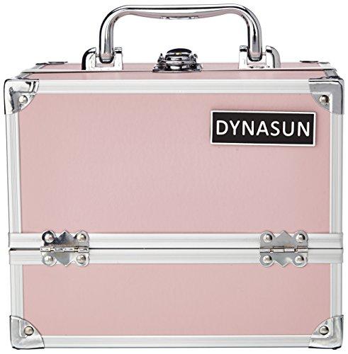 DynaSun ALU Design Beautycase Schmuckfach Schminkkoffer Kosmetikkoffer, 24 cm, Pink