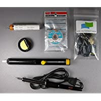 Samsung LN46A550 LCD TV, Complete Repair Kit v1, 8 Capacitors and Soldering Accessories (Soldering Iron and Stand, Solder Sucker, Solder and De-solder Wick)