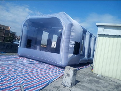 Inflatable Spray Booth Custom Tent Car Paint Booth Inflatable Car (White) ((26x13x10Ft)) by LIVIQILY (Image #4)
