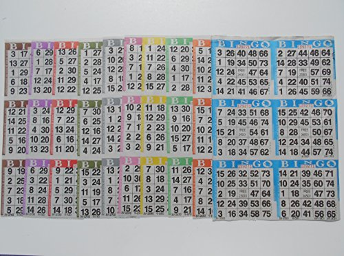Bingo Paper Game Cards - 6 cards - 10 sheets - 100 books of 10 sheets by  American Games INC