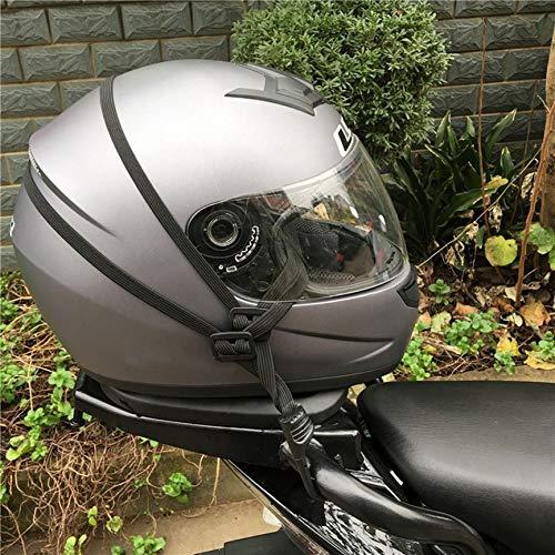 Grapttpk Corda Elastica Retrattile per elmetto da Motociclista con Due Ganci Bagagli universali Cinghia Flessibile Cinghie