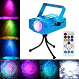 Blingco Strobe Light Water Ripples Laser Projector Portable Water Wave RGB LED Stage Lighting Ocean Wave Projector Light 7 Color with Remote Control for KTV Party DJ Disco Karaoke Club Bar Wedding