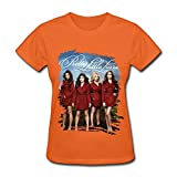 YX Mystery Tv Series Pretty Little Liars Poster T Shirt For Women Orange XS