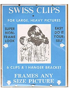BC Imports Swiss Clips for large, heavy pictures pack of 6