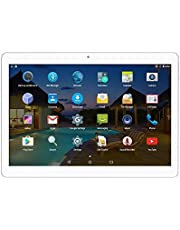 Android Tablet 10 Inch with Dual Sim Card Slots Octa Core 3G Phone Tablet 4GB RAM 64GB ROM Bluetooth GPS Netflix (Silver)