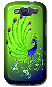 Fantastic Faye Cell Phone Cases For Samsung Galaxy S3 i9300 No.12 The Beautiful Design With Various Lovely Peacock and Paintings Of Proud As A Peacock