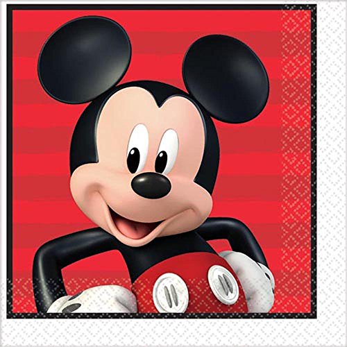 - Mickey Mouse 'On the Go' Lunch Napkins (16ct)