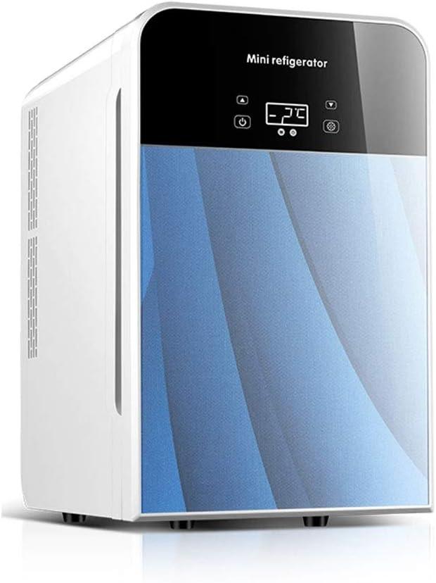 SHPING 冷蔵庫 車の冷蔵庫20 Lデュアルコア冷却LEDタッチスクリーンホーム大容量ストレージ暖房機能 (Color : Blue, Size : LDE)