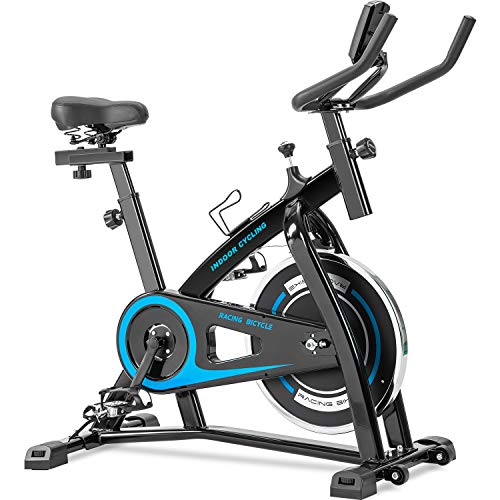 Merax Exercise Bike Indoor Cycling Bike Cycle Trainer Adjustable Stationary Bike 330LBS Weight Capacity