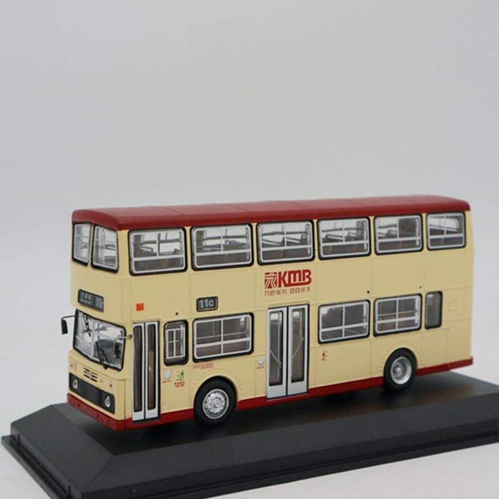 QLRL 1:76 Hong Kong Double-Decker Bus Retro Model Die-Cast Model Children Sports Car Model Classic Decoration