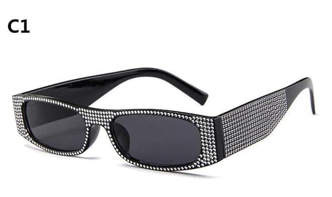 WHAELI Pequeñas gafas de sol cuadradas modelos femeninos ...