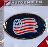 New England Revolution Raised Metal Domed Oval Color Chrome Auto Emblem Decal MLS Soccer Football Club