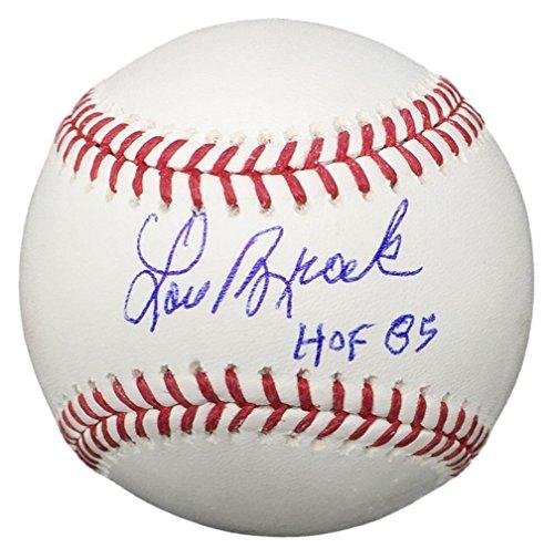 Lou Brock St Louis Cardinals Signed Official MLB Baseball HOF 85 JSA ITP - Lou Brock Ball
