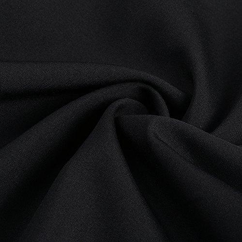 ZAFUL Mujer Vintage Mini Vestido Bordado Floral Sin Mangas Cuello V Escotado por Detrás Vestido de Playa Verano Vestidos de Coctel Negro 3