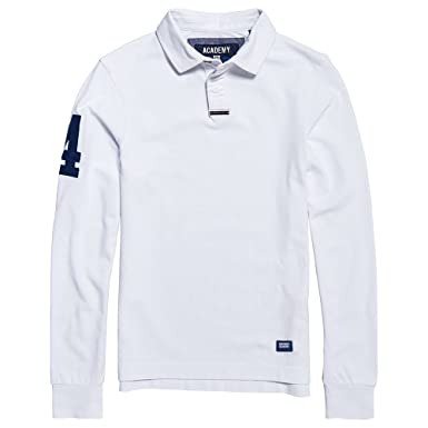 Homme Longues Rugby Polo Superdry Manches I6mfgvbyY7