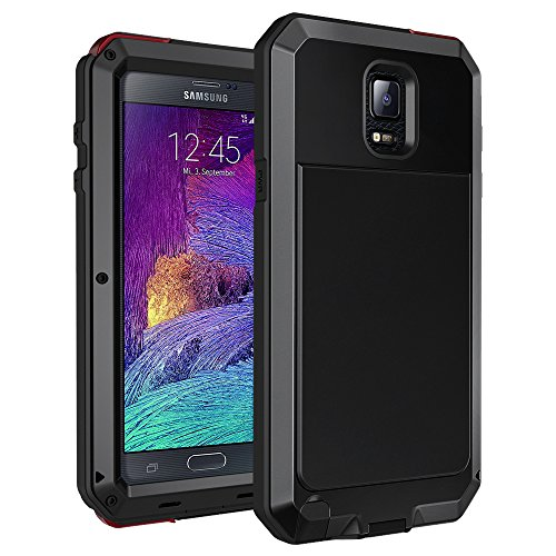 Galaxy Note 4 Case, Seacosmo Shockproof Dustproof Rainproof Military Grade 360 Full Body Protective Case with Built-in Screen Protector Heavy Duty Rugged Drop Resistant Case for Galaxy Note 4, Black