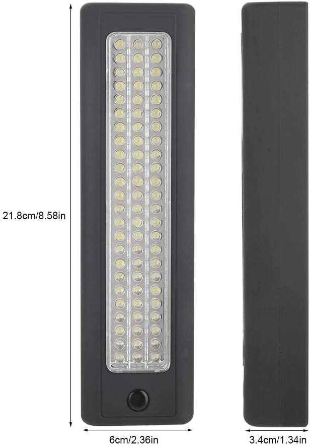 Emergency Lighting KIMISS 72 LED Work Light Bars,ABS Car LED Inspection Work Light Portable Strong Magnetic Super Bright with Hanging Hook Car Repairing Garage Workshop Camping