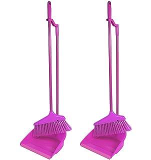 YoL Long handle handheld dustpan /& brush 4 piece set sweeping cleaning home blue