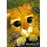 Shrek 2 Puss In Boots Cute Cat's Eyes Cartoon Movie Poster 24 x 36 inches