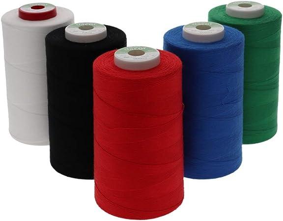 Sewfil dacor 120-5 conos de hilo de coser de poliéster - Pack de 5 ...
