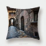 Custom Satin Pillowcase Protector Barri Gothic Quarter And Bridge Of Sighs In Barcelona Catalonia Spain 235813558 Pillow Case Covers Decorative