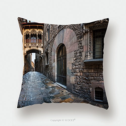 Custom Satin Pillowcase Protector Barri Gothic Quarter And Bridge Of Sighs In Barcelona Catalonia Spain 235813558 Pillow Case Covers Decorative by chaoran