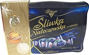 Solidarnosc Sliwka Plum in Chocolate Tin Box 490 G