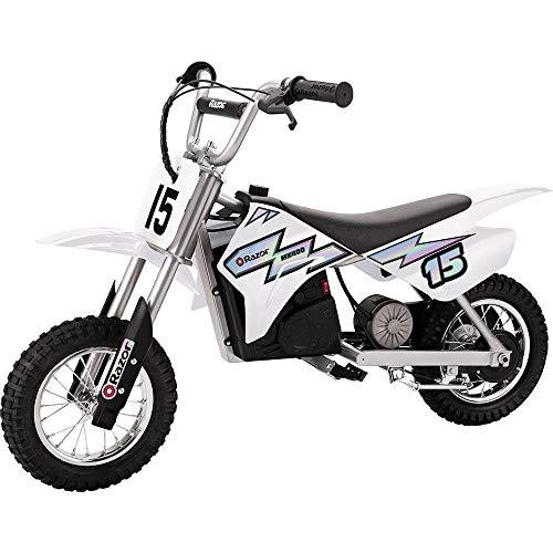 Razor MX400 Dirt Rocket Electric Motorcycle, White (Razor Electric Bike Motor)