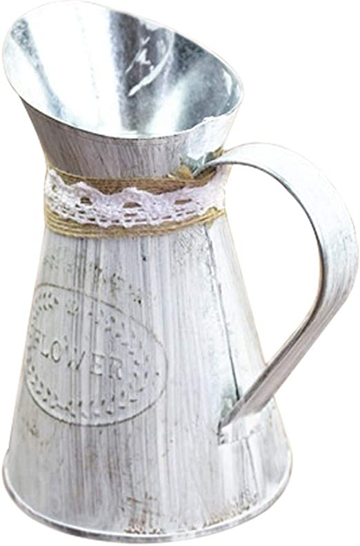 Watering Can Shabby Chic Succulent Pots Metal Vase Vintage Wrought Iron Vase