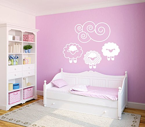 - CreativeWallDecals Wall Decal Vinyl Sticker Dolly The Sheep Cloud Dog Cat Animals Nursery B328