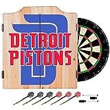 Trademark Gameroom NBA7010-DP2 NBA Dart Cabinet Set with Darts & Board - Fade - Detroit Pistons