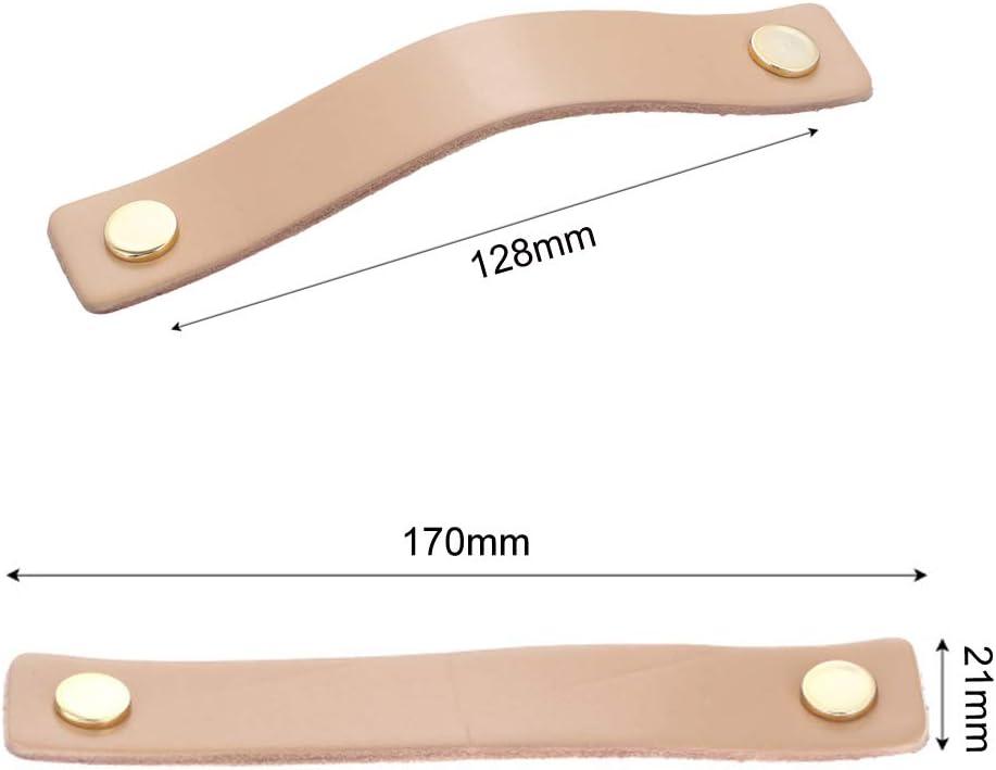 96 mm, Kamel Schrankgriff,JeogYong S/ätze von 4 St/ücken Zarter Ledergriff Benutzt f/ür Schrankfach-Schlafzimmer-M/öbel