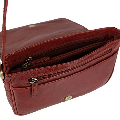 In pelle da donna, borsetta da spalla Rowallan Razzano colore: bordeaux
