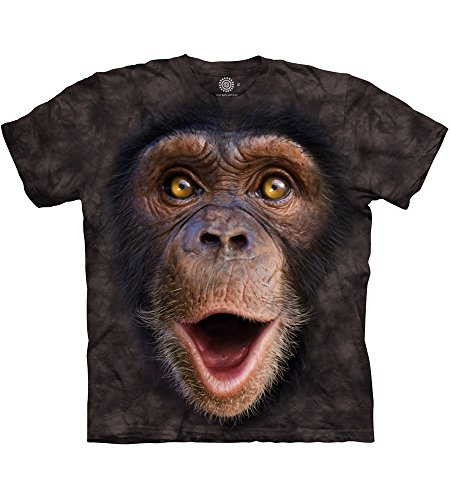 The Mountain Happy Chimp Adult T-Shirt, Black, 5XL