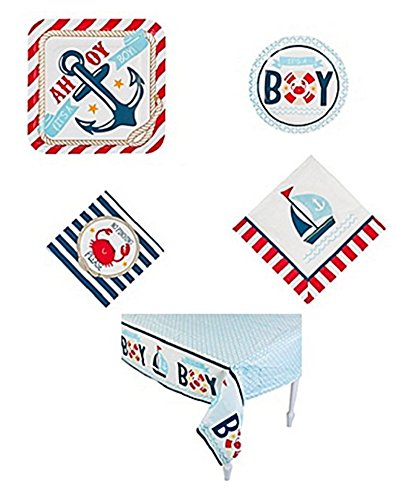 Nautical Baby Shower Tableware Party Pack (97 -