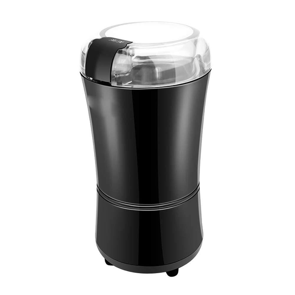 HEART SPEAKER Household Mini Electric Coffee Grinder Bean Machine Kitchen Grinding Mill Tool Gift - US Plug Black