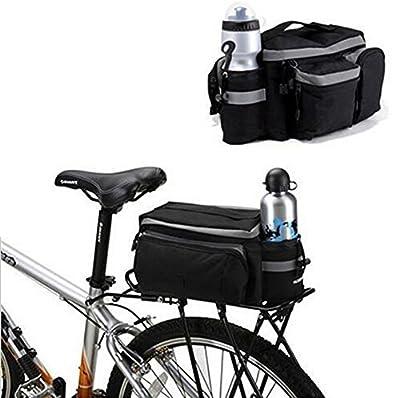 BicycleStore® Mountain Road MTB Bicycle Bike Cycling Sport Waterproof 7L Rear Seat Bag Pannier Trunk Bag Bicycle Accessories Black