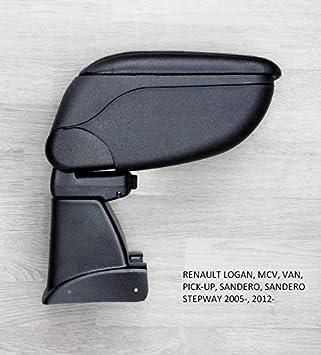 Consola central reposabrazos negro para adaptarse a 500 2007 /– 15