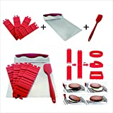 CS CREATIVE STARTUP 7PCS Silicone Cake Mold Cake Pan Magic Bake Snake DIY Baking Mould Tools -1 pc brush 1 spatula 4 pc caje mold 1 pc cake and cookies lifter