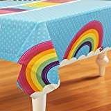 BirthdayExpress Rainbow Wishes Party Supplies - Plastic Table Cover