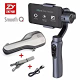 Zhiyun Smooth-Q 3-Axis Handheld Gimbal Stabilizer for Smartphone Like iPhone - Samsung. Huawei and Gopro Hero 5 4 3 Wireless Control (Grey)