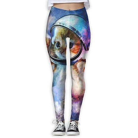 Abfind Astronauta Gato en el Espacio Mujeres Power Flex Yoga ...