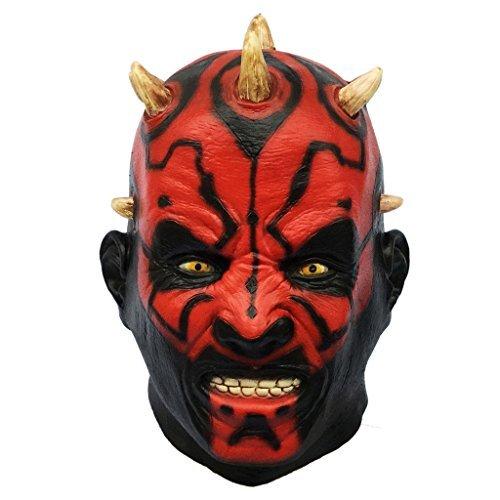 Demi Sharky Natural Latex Star Wars Mask Movie Darth Maul Vader Mask Full Head Scary Horror Head (Horror Movie Halloween Memes)