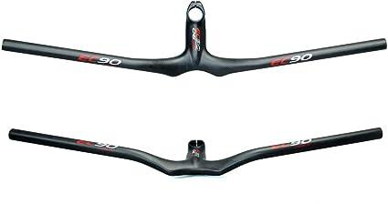 28.6 31.8mm Carbon Fiber Riser Handlebar Integrated Bar Stem for Mountain Bike