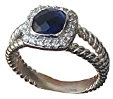 Designer Inspired 7mm Cushion Cable Twisted Tanzanite Ring