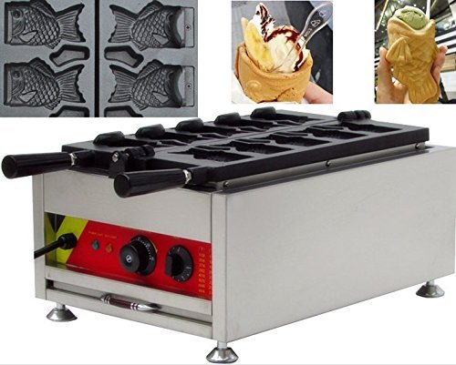 Amazon.com: 5pcs Fish Commercial Use Non-stick Electric Ice Cream Fish Taiyaki Maker Machine Baker with CE Certificate: Kitchen & Dining