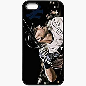 Personalized iPhone 5 5S Cell phone Case/Cover Skin 15130 derek jeter new york yankees by jobachamberlain d51hs9x Black by lolosakes