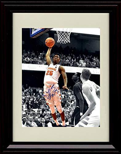 Framed Tyus Battle Autograph Replica Print - Dunking - Syracuse Orangemen